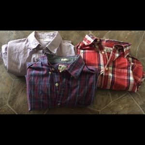 Lot of 3 J. Crew Tailor Fitted Shirts. Medium.